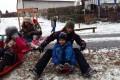 Družina - první sníh